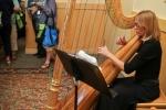 Banquet reception harpist