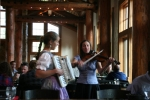 Bavarian style serenade at mountaintop restaurant