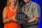Sandra Ryan (L) - 2016 Loretta C. Ford Lifetime Achievement Award Recipient, presented by Jeff Spicher (R)
