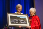 Cheryl W. (L) of NNPS Program Committee presents Loretta Ford (R) a momento of appreciation