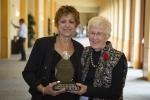 Donna Torrisi (L) - 2017 Loretta C. Ford Lifetime Achievement Award Recipient, presented by Loretta Ford (R)